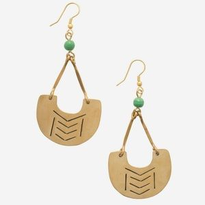 Noonday Collection Kenya Brass Catalyst Earrings